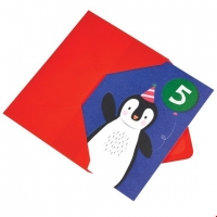 Rex London Geburtstagskarte, Pinguin 5. Geburtstag