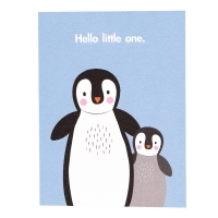Rex London Geburtstagskarte, Hello Little One - blau