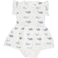 Geggamoja Baby Body-Dress aus Baumbus, Walfisch
