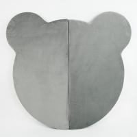 MISIOO Spielmatte Bär, Hellgrau