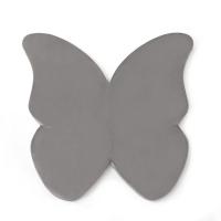 MISIOO Spielmatte Schmetterling, Hellgrau