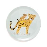Petit Monkey Melamin Teller, Leopard Mint
