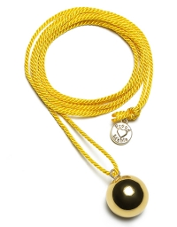 Proud MaMa Bola-Kugel - BabyBel Twist, Gelb/ Gold