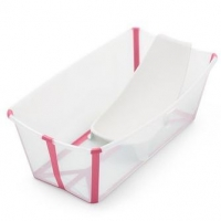 STOKKE Flexi Bath Bundle, Transparent Pink