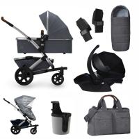 JOOLZ Geo 2 Kinderwagen, Radiant Grey - 3KH Special Set Premium (inkl. Versicherung)