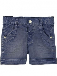 Boboli kurze Hose aus weichem Denim, midnight blue