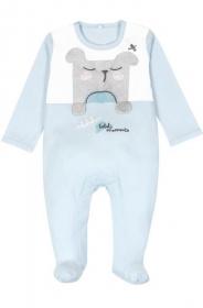 Boboli Babypyjama mit Füsschen, Bär - 74 cm