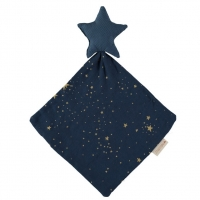 Nobodinoz Kuscheltuch Star Doudou, night blue