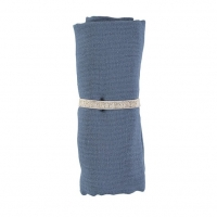 Nobodinoz Baby Love Swaddle, 70x70 - Night Blue