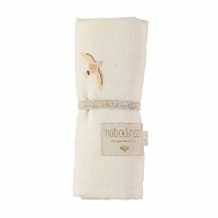 Nobodinoz Baby Love Swaddle, 70x70 - Nude Haiku Birds