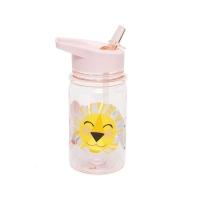 Petit Monkey Strohhalm-Flasche, Löwe - rosa