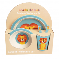 Rex London Bambus Geschirr-Set, Charlie The Lion