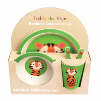 Rex London Bambus Geschirr-Set, Teddy The Tiger