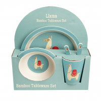 Rex London Bambus Geschirr-Set, Dolly Llama
