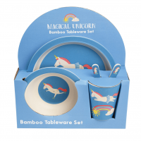 Rex London Bambus Geschirr-Set, Magical Unicorn
