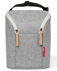 Skip Hop Double Bottle Bag, Grey Melange