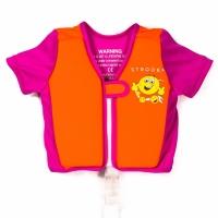 Strooem Schwimmweste für Kinder von 2-4 Jahre alt, orange/ pink