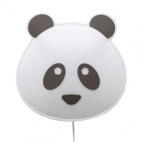 BUOKIDS Wandlampe Panda, schwarz
