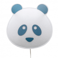 BUOKIDS Wandlampe Panda, blau
