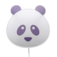 BUOKIDS Wandlampe Panda, lila