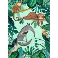 Petit Monkey Poster, Ameisenbär & Faultier