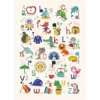 Petit Monkey Poster, ABC Apfel-Zebra