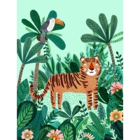 Petit Monkey Poster, Tiger