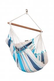La Siesta Caribeña Aqua Blue - Hängestuhl Basic aus Baumwolle