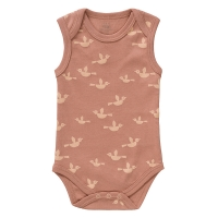 Fresk Babybody Bio-Baumwolle, ärmellos, Birds