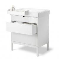 STOKKE Home Kommode Dresser inkl. Wickelaufsatz und Wickelauflagenbezug, White - Ausstellungsstück