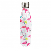 Rex London Edelstahl Thermosflasche, Flamingo Bay