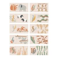 Sebra Puzzle mit Zahlen, Wildtiere