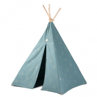 NOBODINOZ Tipi-Zelt Phoenix, Gold Confetti/ Magic Green