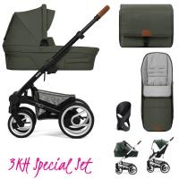 Mutsy Nio Kinderwagen, Adventure Sea Green - 3KH Special Set