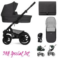 Mutsy Nio Kinderwagen, Inspire Pearl Grey - 3KH Special Set