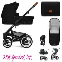 Mutsy Nio Kinderwagen, North Black - 3KH Special Set
