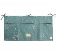 NOBODINOZ Betttasche Merlin, Gold Confetti/ Magic Green