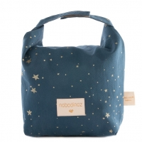 Nobodinoz Eco Cool Lunch Tasche, Gold Stella/ Night Blue