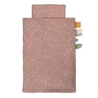 Sebra Bettwäsche Baby 100x70 cm/ 40x45cm, Wildlife Sunset Pink