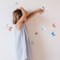 MIMIlou Wandsticker Bordüre 5 m, Butterflies