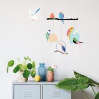 MIMIlou Wandsticker, Birds and Houses