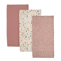 Sebra Muslin Mulltuch 3er Pack - Wildtire, sunset pink