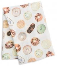 Lulujo Bambus Muslin Swaddle Mulltuch - Donuts