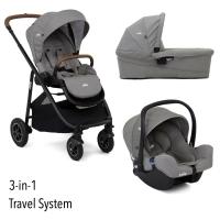 Joie Versatrax 3-in-1 inkl. Babywanne und Autositz, Grey Flannel 2020