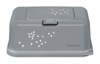 FunkyBox Feuchttücher Box, clay grey/ little stars