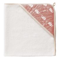 Fresk Baby Kapuzenbadetuch - Whale peach