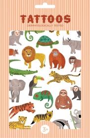 Petit Monkey Kinder-Tattoos, Dschungeltiere
