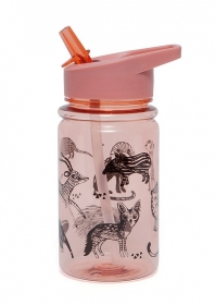 Petit Monkey Strohhalm-Flasche, Black Animals