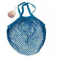 Rex London Netzeinkaufstasche aus Bio-Baumwolle, Greek Blue