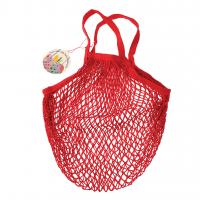 Rex London Netzeinkaufstasche aus Bio-Baumwolle, rot